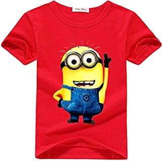 Cartoon Anime Figure Despicable Me Minions Clothes Children T Shirts Top 4-5 Years