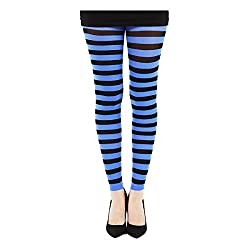 Stripy 80s Workout Leggings