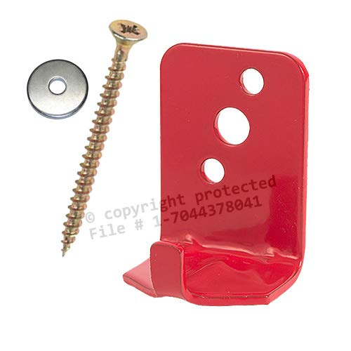 (Lot of 2) Fire Extinguisher Bracket, Wall Hook, Mount, Hanger, Universal for 5 Lb. Extinguishers with Screws and WASHERS