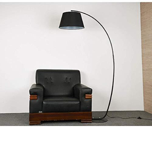 Thuis staande lamp, floorstanding Reading Led, staande lamp Creative Bedroom Book staande lamp Fashion About Black and fising Lights oogbescherming verticale tafellamp, zwart + zwart, B-D modern zwart en zwart.