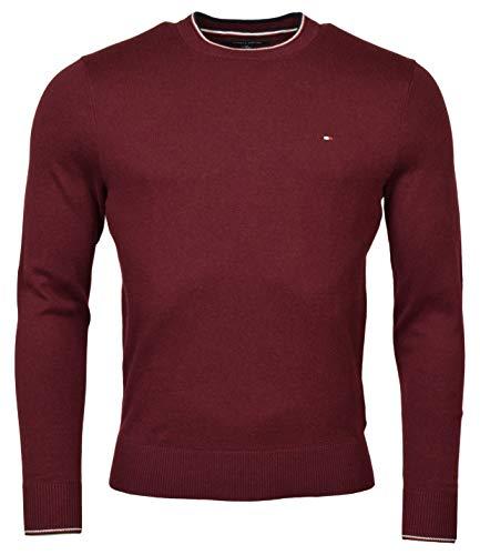 Tommy Hilfiger Mens Pima Cotton Cashmere Sweater (Medium, Burgundy)