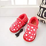 heated slippers usb electric foot warmer shoes comf cozy arthritis edema anti-skid sole house shoes