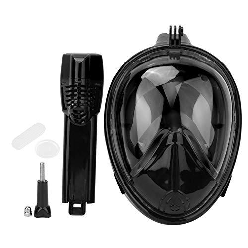 SALUTUYA Adultos cómodos a Prueba de roturas Gafas de Buceo Máscara de natación, para bucear, Nadar(Black, S.M)