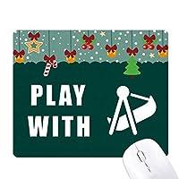 スイングゲーム ゲーム用スライドゴムのマウスパッドクリスマス