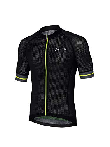 Spiuk Race Maillot M/C, Hombres, Negro, T. S