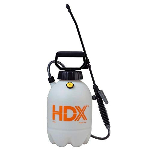HDX Pet Control Sprayer, Weed Control Sprayer - 1 Gallon, Multi-Purpose, Comfortable-Grip Pump Handle, Polyethylene Funnel TOP Tank, Corrosion-Resistant Poly Wand & Nozzle Spray System - #1501HDX