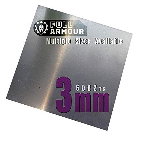 Piastra in alluminio, 3 mm, 6082 T6., 300mm x 300mm