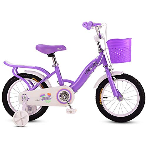 Buy Discount JINHH Kids' Bikes with Stabilisers Folding Bikes Purple Children's Bicycle Bicycle Carr...