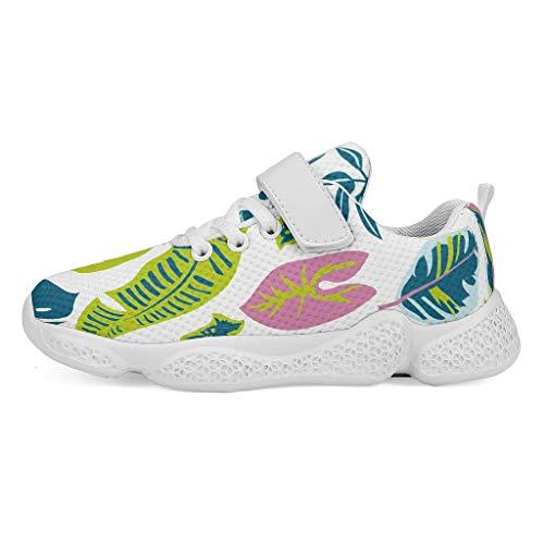 YxueSond Green Tropisch Blad Plant Bladeren Lichtgewicht Niet Slip Sport Schoenen Platform Sneakers Wandelen Gym Joggen Atletische Schoenen/Schoeisel Voor Jongen