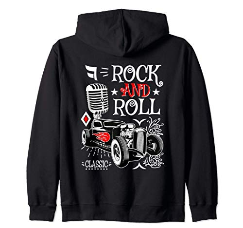 Sudaderas Rockabilly Hombre Mujer Rockera Rock and Roll Sudadera con C