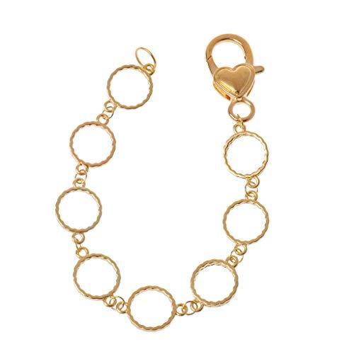 Boji Bisel colgante, marco de metal blanco, cadena de pulsera, redondo, bisel de resina UV, joyas para manualidades, joyas estampadas