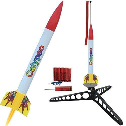 Raketenmodellbau Klima GmbH Calypso Modellrakete mit Umfangreichem Zubehör: Schnellbausatz komplett mit Startrampe, Treibsätzen und Schutzwatte! - Landung erfolgt mittels Fallschirm