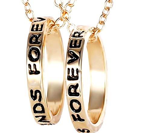 Twee ringen kettingen - voor altijd - beste vrienden - vriendinnen - gouden kleur - cadeau-idee best friends