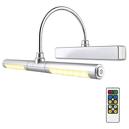 HONWELL Bilderleuchte LED Verstellbare LED Wandleuchte für Spiegel AA Batterie Betriebene mit Fernbedienungen...
