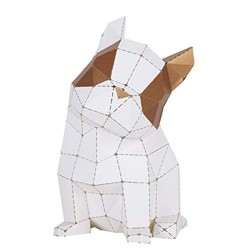 Abstract Bulldog Papercraft Kit,Animal PaperCraft Building Kit,DIY Hand‑Made Origami Paper Kit,Puzzle DIY Kits for Children's