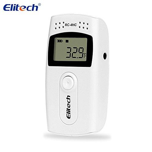 Elitech USB Thermometer Hygrometer Thermo-Hygrometer Feuchtigkeits-Meter Feuchtigkeit Monitor Innen / Außen Temperatur Messgerät Thermostat Sensor Sonde