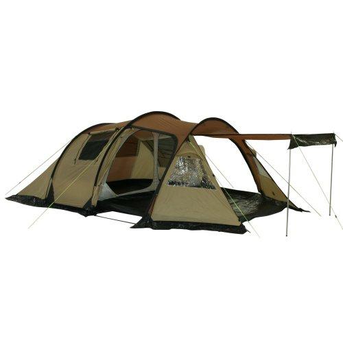 10T Zelt Felton 4 Mann Tunnelzelt wasserdichtes Campingzelt 5000 mm Trekkingzelt Vorraum & 5 Fenster