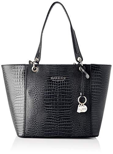 Guess Damen Kamryn Tote, Schwarz (Black), 15x26,5x42 centimeters
