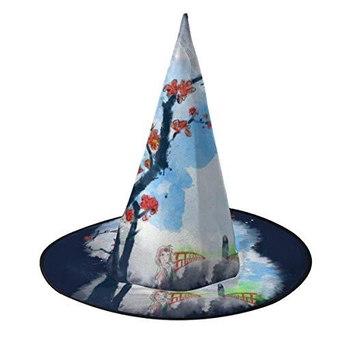 Sombrero de Halloween El Viaje de Chihiro Estilo Sumie Sombrero de Bruja Disfraz de Halloween Unisex para Vacaciones Fiesta de carnavales de Navidad de Halloween