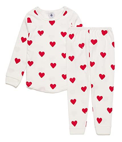 Petit Bateau 5940104 Pajama Set, Marshmallow/Terkuit, 4 Ans Girls