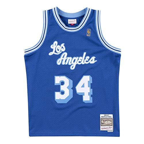 Mitchell&Ness Los Angeles Lakers Blusas, Azul Cobalto, XL para Hombre