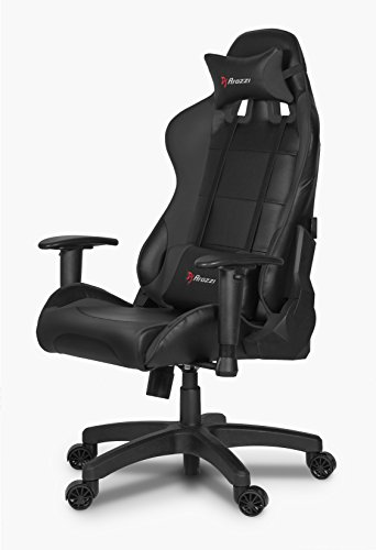 Arozzi Verona Junior Gaming Chair for Kids with High Backrest, Recliner, Swivel, Tilt, Rocker and Seat Height Adjustment, Lumbar and Headrest Pillows Included - Black black chair gaming