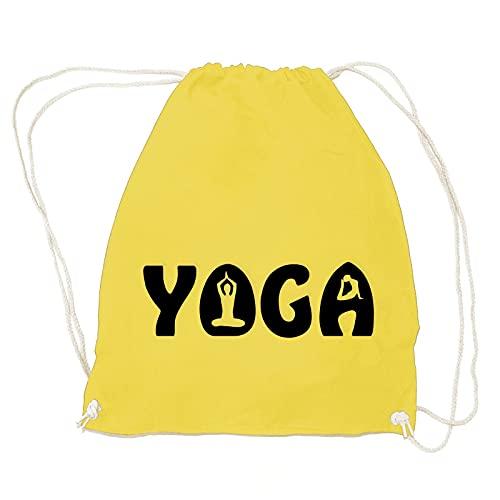 absenda Yoga Turnbeutel   Joga   Yuga   Sport   Yama   Entspannung   Wellness   Indien Gelb