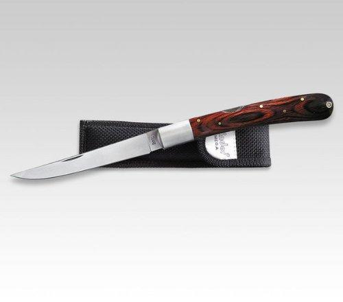 Linder Klappmesser Taschenmesser Pakkaholz Cordura-Etui 12.8 cm Klingenlänge, 330616