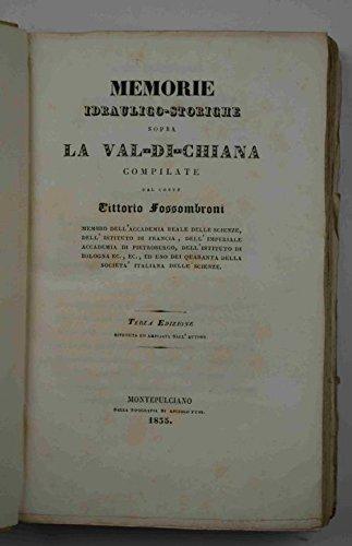 Memorie idarulico-storiche sopra la Val-di-Chiana.