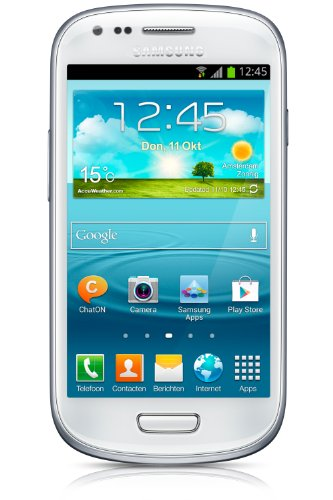 Samsung Galaxy S III mini (I8190) - Smartphone libre Android (pantalla 4 , cámara 5 Mp, 8 GB, Dual-Core 1 GHz, 1 GB RAM), blanco