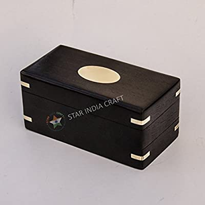 STAR INDIA CRAFT Handmade Rosewood Secret Enigma Puzzle Box with Hidden/Secret Compartment by, Wooden Brainteaser Puzzle Box - A Perfect Puzzle Box to gift your loved ones
