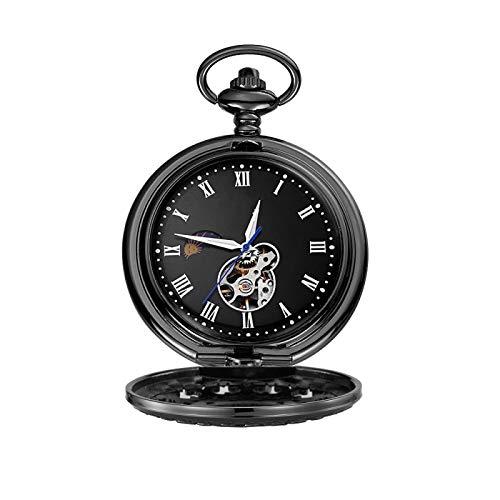 Orologio Da Tasca Con Catena Golden Traditional Time Skeleton Steampunk Analog Fob Long Chain Clock Orologio Da Tasca Meccanico C.