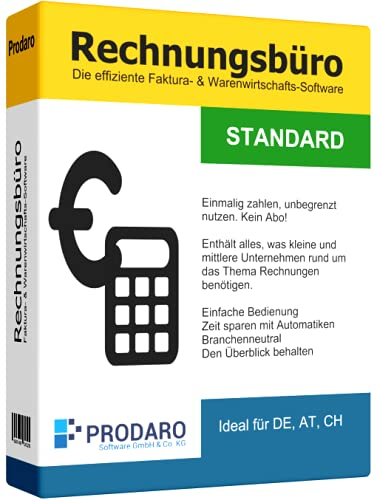 Rechnungsprogramm - Prodaro Rechnungsbüro STANDARD