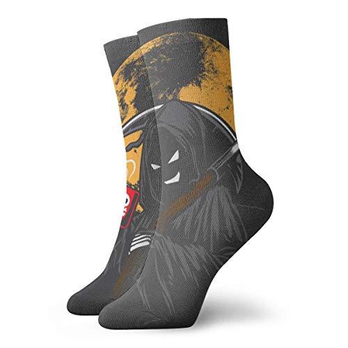 Hunter Qiang - Fondo para vectores de café venenoso, para calcetines, caricaturas, sonrisas y bebidas. Calcetines deportivos de 30 cm.