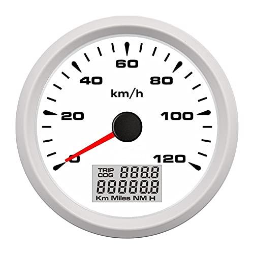 HUILING September Department Store 3 3 8 Camión Ajuste for el Coche Impermeable GPS Velómetro de odómetro de velocímetro 0 12 0km h con Viaje kilometraje 9 32v (Color : WW)