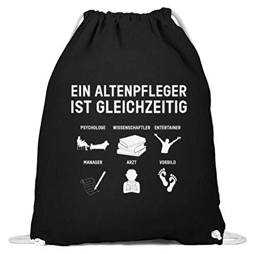 Chorchester Für Jeden Altenpfleger und Betreuer - Baumwoll Gymsac -37cm-46cm-Schwarz