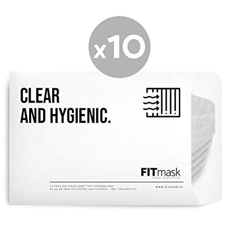 FITmask Pack 10 filtros FM001SP
