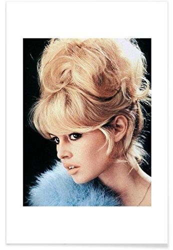 """JUNIQE® Brigitte Bardot Vintage Poster 20x30cm - Design """"Brigitte Bardot, 1956"""" entworfen von Vintage Photography Archive"""