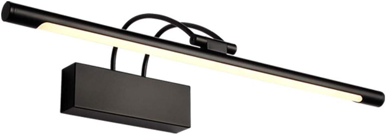 T-TWJQ Led-Spiegel Scheinwerfer schwarz Bad Badezimmer Lampe Bad Spiegel Schrank Beleuchtung, schwarzes warmes Licht, 55cm12W
