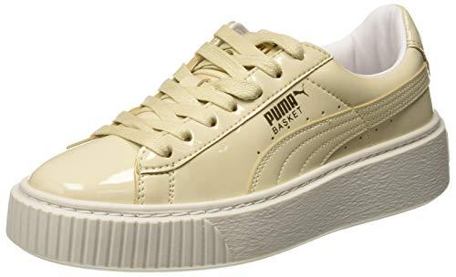 Puma Basket Platform Patent Wn's, Zapatillas para Mujer, Blanco (Oatmeal-Oatmeal), 38.5 EU