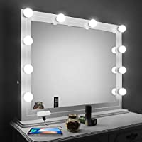Vansky LED Mirror Lights Kit with Dimmer and USB Phone Charger