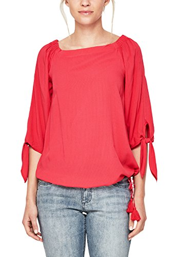 s.Oliver Damen 14.804.19.4145 Bluse, Rot (Bittersweet Red 3308), 34