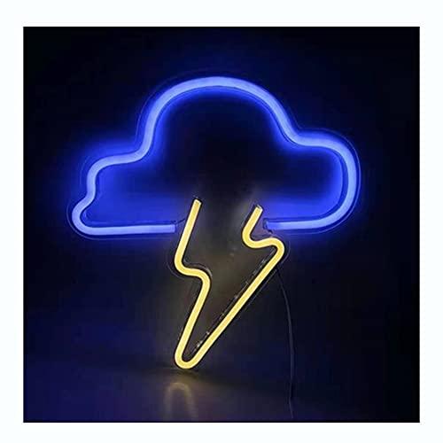 DEWUFAFA Luz de neón, Nube Led Neon Light Light Light Decoración de la pared, batería o fuente de alimentación USB para iluminar la luz de neón acrílico, adecuado para el dormitorio, la habitación par