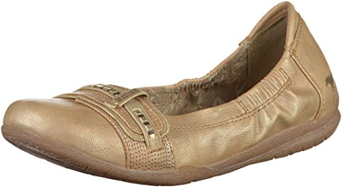 MUSTANG Shoes Ballerinas in Übergrößen Beige 1181-209-318 große Damenschuhe, Größe:42