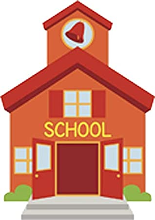 Amazon Com Classic School House Elementary Middle Bell Lunch Time Recess Learning Cartoon Vinyl Sticker 8 Tall Arts Crafts Sewing