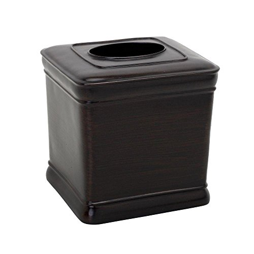 Zenna Home India Ink Marion Tissue Box Cover, Oil Rubbed Bronze