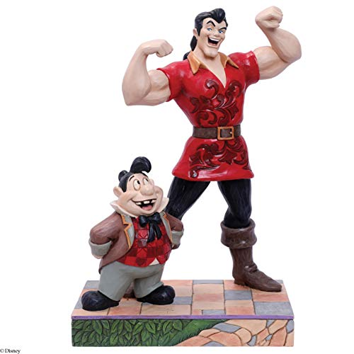 Disney Tradition Gaston e Le Tont Figurina, Resina, Multicolore, 12 x 12 x 25 cm