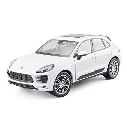 YAXIAO Car Model Car 1:24 Macon Macan Turbo Off-Road Vehicle Simulation Alloy Die-Casting Toy Ornaments Sports Car Collection Jewelry 19.5x9x6.5CM (Color : White)