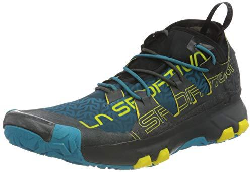 La Sportiva Unika, Zapatillas de Trail Running Hombre, Multicolor (Carbon/Tropic Blue 000), 43 EU