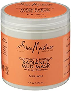 Shea Moisture Coconut and Hibiscus Radiance Mud Mask with Songyi Mushroom